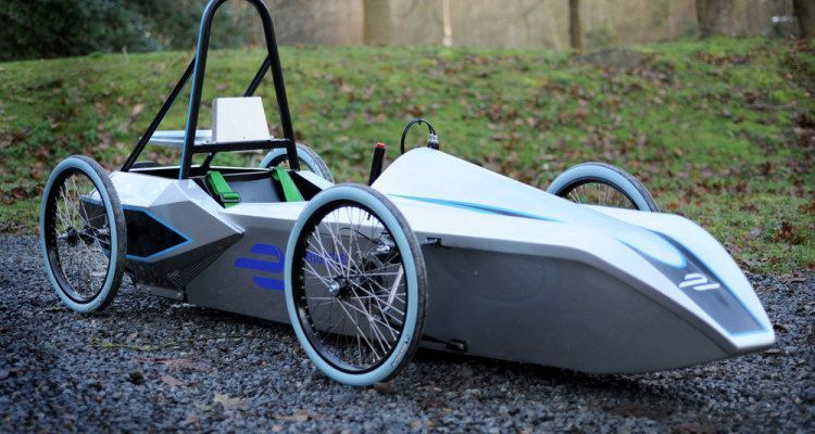 One of the FE School Series electric kit cars