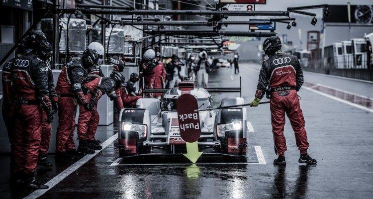 Car #7 / AUDI SPORT TEAM JOEST (DEU) / Audi R18 e-tron quattro Hybrid / Marcel Fassler (CHE) / Andre Lotterer (DEU) / Benoit Treluyer (FRA) during Free Practice 2 - 6 Hours of SPA  at SPA Francorchamps Circuit - Francorchamps - Belgium