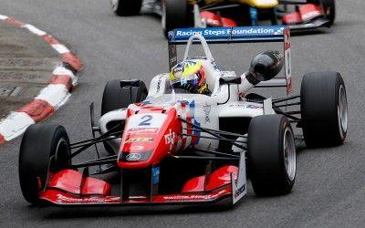 2 Jake Dennis (GBR, Prema Powerteam, Dallara F312 – Mercedes-Benz), 3 Antonio Giovinazzi (ITA, Jagonya Ayam with Carlin, Dallara F312 - Volkswagen), FIA Formula 3 European Championship, round 3, race 1, Pau (FRA) - 15. - 17. May 2015