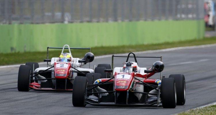 1 Felix Rosenqvist (SWE, Prema Powerteam, Dallara F312 – Mercedes-Benz), 2 Jake Dennis (GBR, Prema Powerteam, Dallara F312 – Mercedes-Benz), FIA Formula 3 European Championship, round 4, race 2, Monza (ITA) - 29. - 31. May 2015