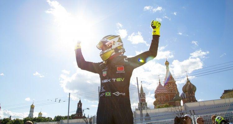 2014/2015 FIA Formula E Championship. Race Winner Nelson Piquet Jr (BRA)/China Racing - Spark-Renault SRT_01E  Moscow e-Prix, Moscow, Russia. Saturday 6 June 2015  Photo: Adam Warner/LAT/Formula E ref: Digital Image _L5R1195