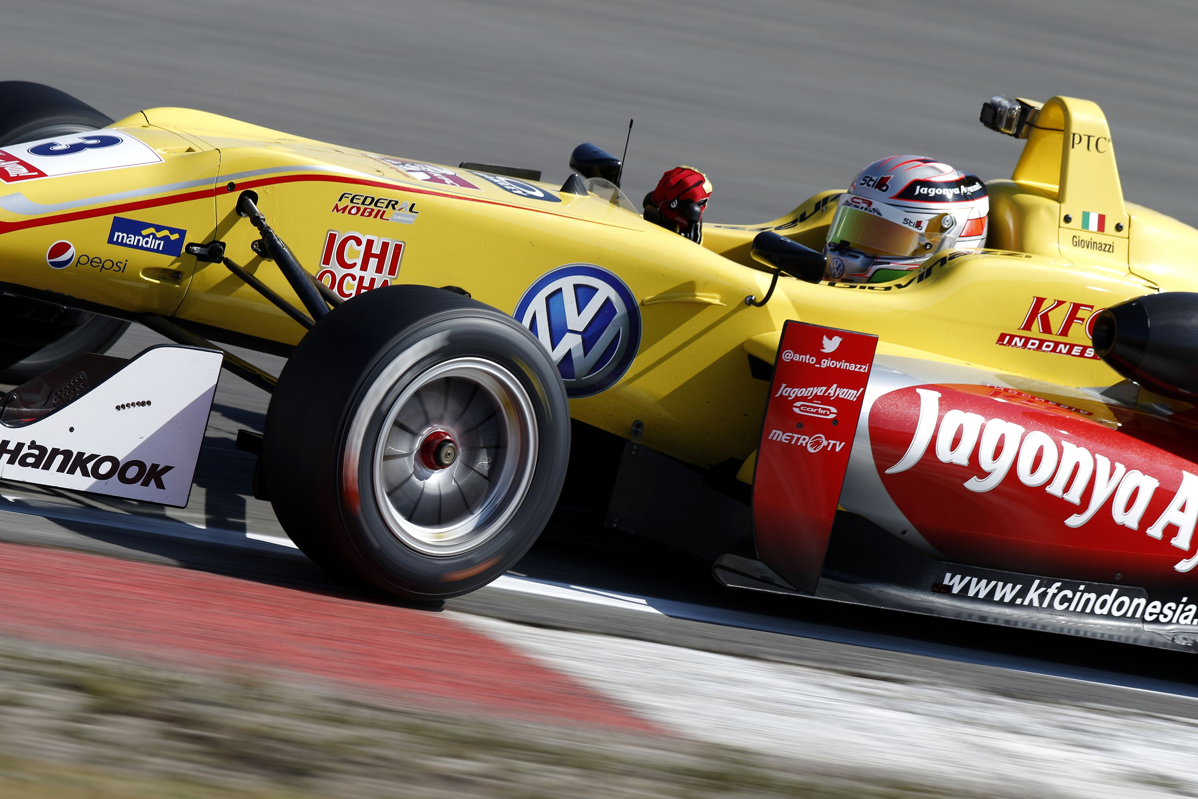 3 Antonio Giovinazzi (ITA, Jagonya Ayam with Carlin, Dallara F312 - Volkswagen), FIA Formula 3 European Championship, round 7, Zandvoort (NED) - 10. - 12. July 2015