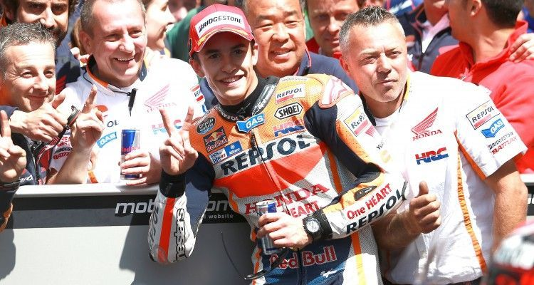 ASSEN,NETHERLANDS,27.JUN.15 - MOTORSPORTS, MOTORBIKE - MotoGP, Grand Prix of the Netherlands. Image shows Marc Marquez (ESP/ Honda). Photo: GEPA pictures/ Gold and Goose/ David Goldman - For editorial use only. Image is free of charge.