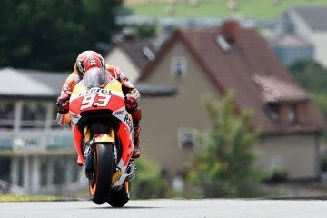 OBERLUNGWITZ,GERMANY,11.JUL.15 - MOTORSPORTS, MOTORBIKE - MotoGP, Grand Prix of Germany. Image shows Marc Marquez (ESP/ Honda). Photo: GEPA pictures/ Gold and Goose/ Gareth Harford - For editorial use only. Image is free of charge.