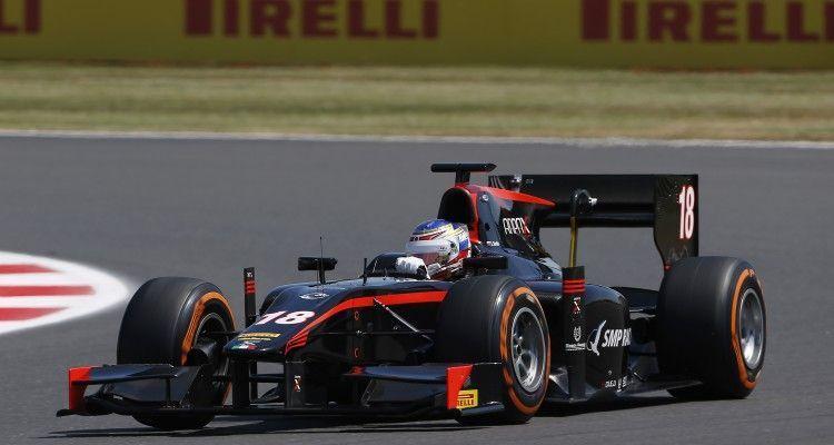 2015 GP2 Series Round 5. Silverstone, Northamptonshire, England. Friday 3 July 2015. Sergey Sirotkin (RUS, Rapax). Photo: Zak Mauger/GP2 Series Media Service. ref: Digital Image _L0U1981