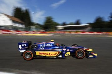 2015 GP2 Series Round 7. Spa-Francorchamps, Spa, Belgium. Sunday 23 August 2015. Sean Gelael (INA, Carlin). Photo: Zak Mauger/GP2 Series Media Service. ref: Digital Image _L0U4208