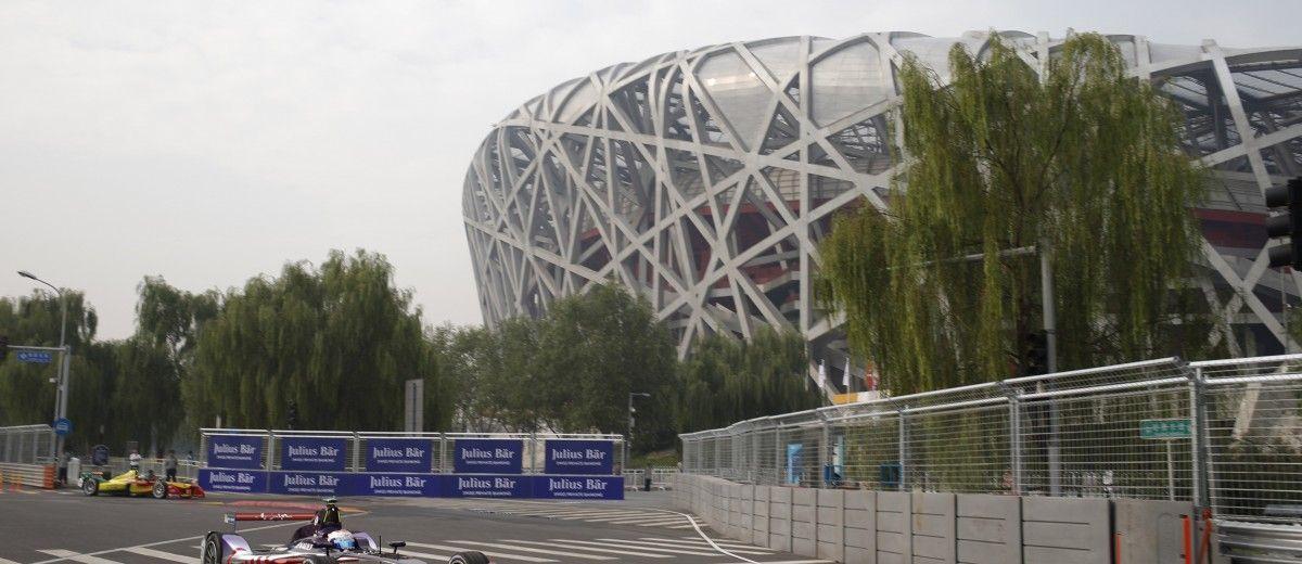 FIA Formula E - First Practice Session Beijing E-Prix, China Saturday 13 September 2014. Sam Bird (GBR)/Virgin Racing - Spark-Renault SRT_01E  Photo: Glenn Dunbar/LAT/ Formula E ref: Digital Image _89P1466