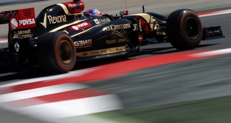 Circuit de Catalunya, Barcelona, Spain. Friday 9 May 2014. Romain Grosjean, Lotus E22 Renault. Photo: Glenn Dunbar/Lotus F1 Team. ref: Digital Image _89P4080