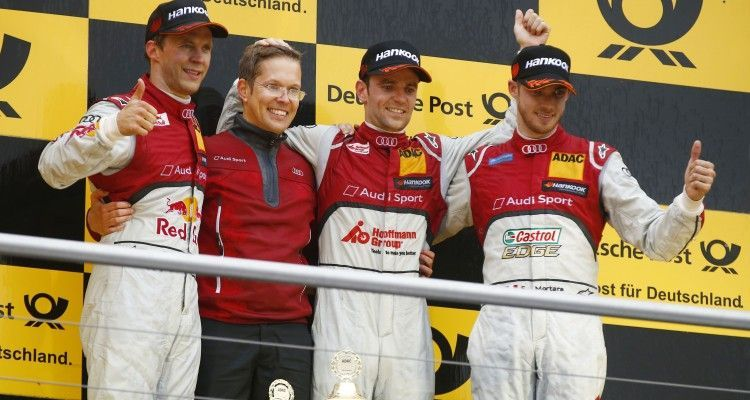 #5 Mattias Ekström, Audi RS5 DTM, #53 Jamie Green, Audi RS5 DTM, #48 Edoardo Mortara, Audi RS5 DTM