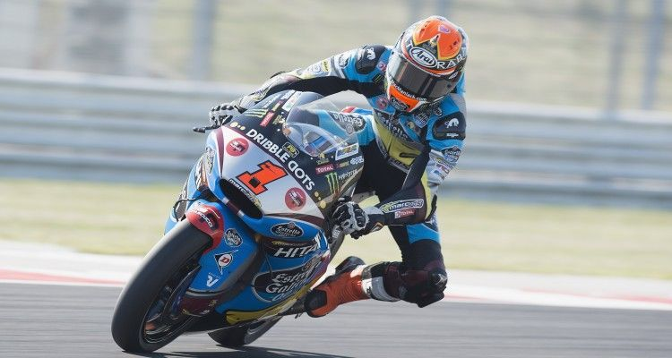 MISANO ADRIATICO, ITALY - SEPTEMBER 12:  Esteve Rabat of Spain and Estrella Galicia 0,0 Marc VDS rounds the bend during the qualifying practice during the MotoGP of San Marino - Qualifying at Misano World Circuit on September 12, 2015 in Misano Adriatico, Italy.  (Photo by Mirco Lazzari gp/Getty Images)