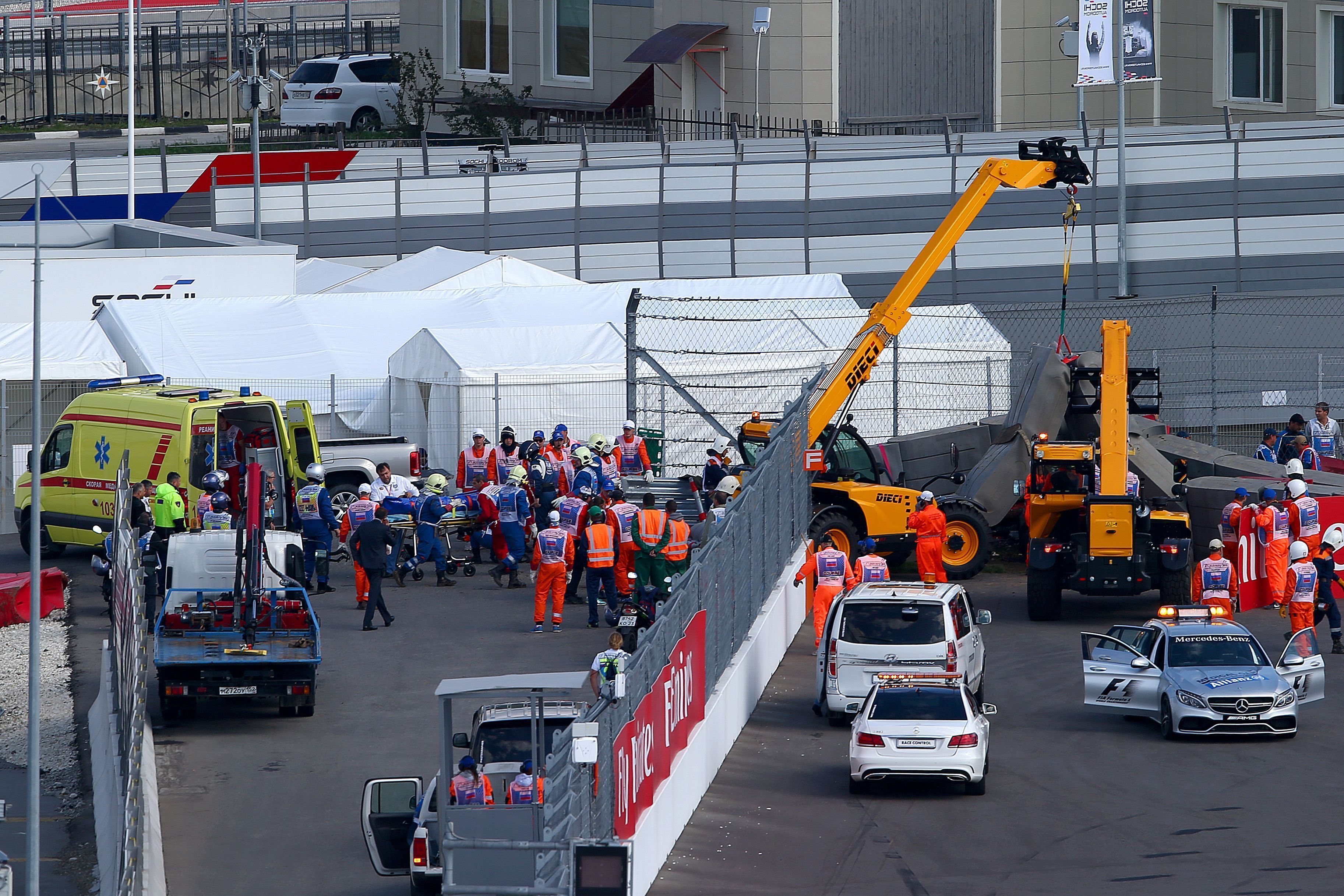 xxxx during final practice for the Formula One Grand Prix of Russia at Sochi Autodrom on October 10, 2015 in Sochi, Russia.