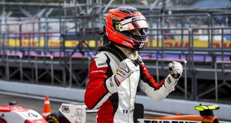 2015 GP3 Series Round 7. Sochi Autodrom, Sochi, Russia.. Saturday 10 October 2015. Esteban Ocon (FRA, ART Grand Prix). Photo: Zak Mauger/GP3 Series Media Service. ref: Digital Image _L0U7589