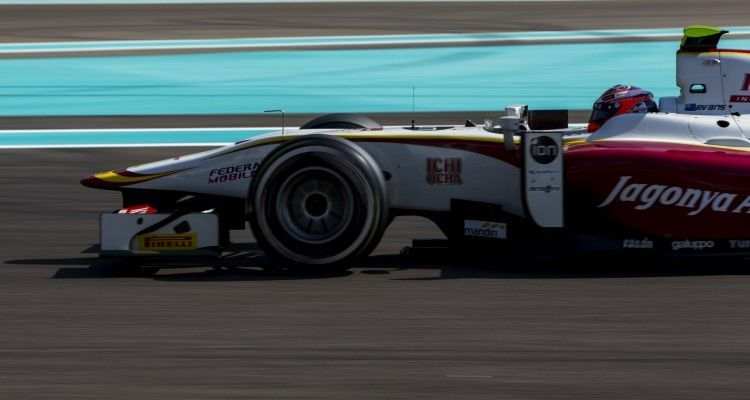 2015 GP2 Series Test 3. Yas Marina Circuit, Abu Dhabi, United Arab Emirates. Thursday 3 December 2015. Mitch Evans (NZL, Campos Racing). Photo: Zak Mauger/GP2 Series Media Service. ref: Digital Image _L0U1974