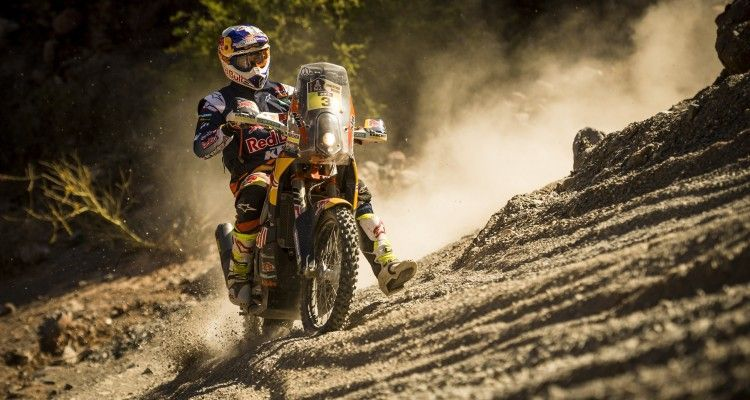 Toby Price (AUS) of Red Bull KTM Factory Team races during stage 08 of Rally Dakar 2016 from Salta to Belen, Argentina on January 11, 2016