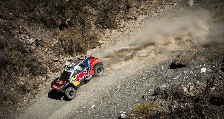 Carlos Sainz (ESP) of Team Peugeot-Total races during stage 08 of Rally Dakar 2016 from Salta to Belen, Argentina on January 11, 2016
