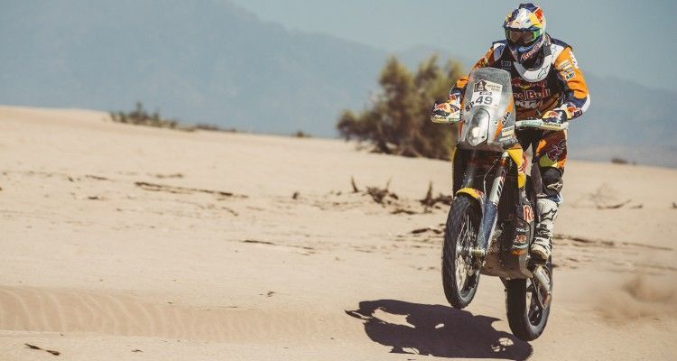 Antoine Meo (FRA) from Red Bull KTM Factory Team performs during stage 9 of Rally Dakar 2016 from Belen to Belen, Argentina on January 12, 2016.