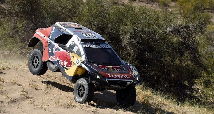 303 SAINZ Carlos (spa) CRUZ Lucas (spa) from Team Peugeot Total in action during the Rally Dakar 2016 Argentina,  Bolivia, Etape 9 / Stage 9, Belen - Belen,  from  January 12, 2016