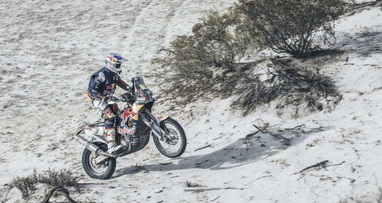 Toby Price (AUS) from Red Bull KTM Factory Team performs during stage 10 of Rally Dakar 2016 from Belen to La Rioja, Argentina on January 13, 2016.