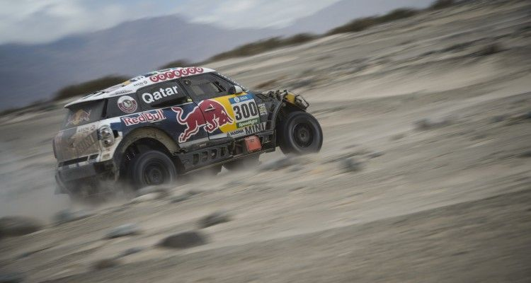 Nasser Al-Attiyah (QAT) of Axion X-Raid Team races during stage 10 of Rally Dakar 2016 from Belen to La Rioja, Argentina on January 13, 2016