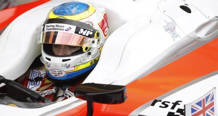 2015 GP2 Series Round 5.  Silverstone, Northamptonshire, England. Sunday 5 July 2015. Oliver Rowland (GBR, MP Motorsport)  Photo:  Sam Bloxham/GP2 Media Service ref: Digital Image _G7C1794