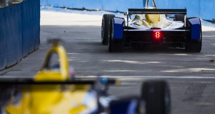 2015 Formula E  Buenos Aires e-Prix, Argentina Friday 5 February 2016. Sebastien Buemi (SUI), Renault e.Dams Z.E.15 & Nicolas Prost (FRA), Renault e.Dams Z.E.15  Photo: Sam Bloxham/FIA Formula E/LAT ref: Digital Image _SBL9730