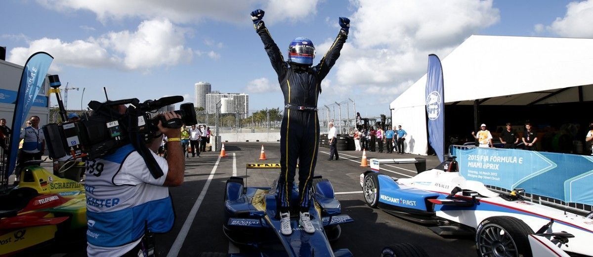 Nicolas Prost (FRA) - Team e-dams Renault at Formula E championship, Rd 5, Miami Florida Saturday Race