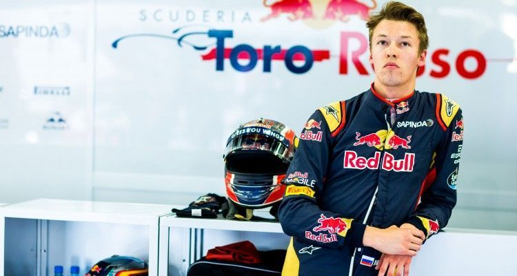 NORTHAMPTON, ENGLAND - JULY 08:  Daniil Kvyat of Scuderia Toro Rosso and Russia during practice for the Formula One Grand Prix of Great Britain at Silverstone on July 8, 2016 in Northampton, England.  (Photo by Peter Fox/Getty Images)