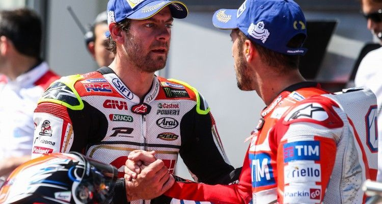SPIELBERG,AUSTRIA,13.AUG.16 - MOTORSPORTS, MOTORCYCLE - MotoGP, Grand Prix of Austria, Red Bull Ring, free practice and qualifying. Image shows Cal Crutchlow (GBR/ Honda) and Andrea Dovizioso (ITA/ Ducati)