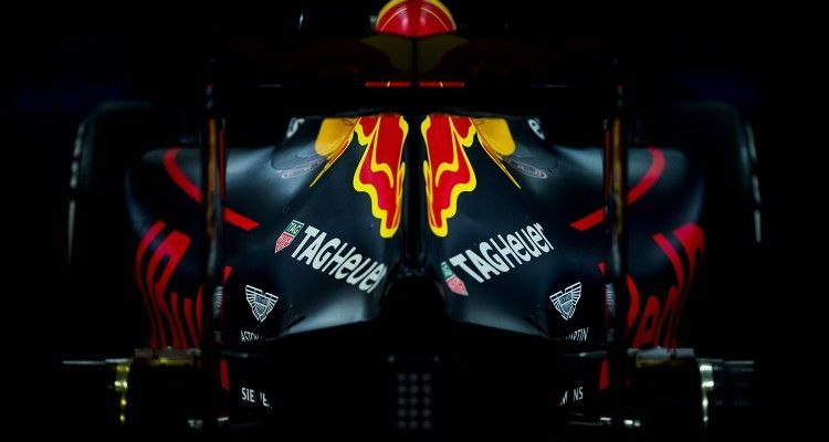 An RB12 is pictured inside the FIA garage at a scruteneering during previews for the Chinese Formula One Grand Prix at Shanghai International Circuit on April 14, 2016 in Shanghai, China. (Photograph by Vladimir Rys)