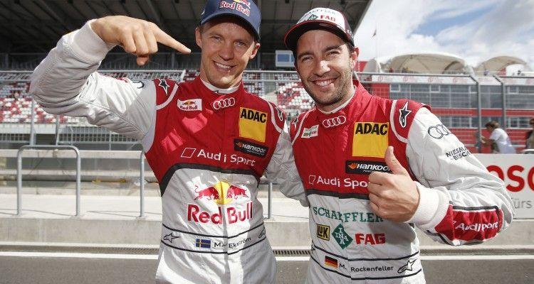 #5 Mattias Ekström, Audi RS5 DTM, #99 Mike Rockenfeller, Audi RS5 DTM