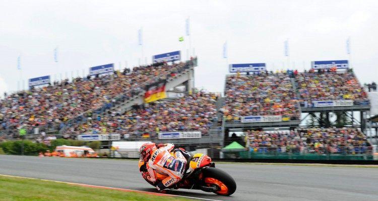 OBERLUNGWITZ,GERMANY,17.JUL.16 - MOTORSPORTS, MOTORBIKE - MotoGP, Grand Prix of Germany, Sachsenring. Image shows Marc Marquez (ESP/ Honda)