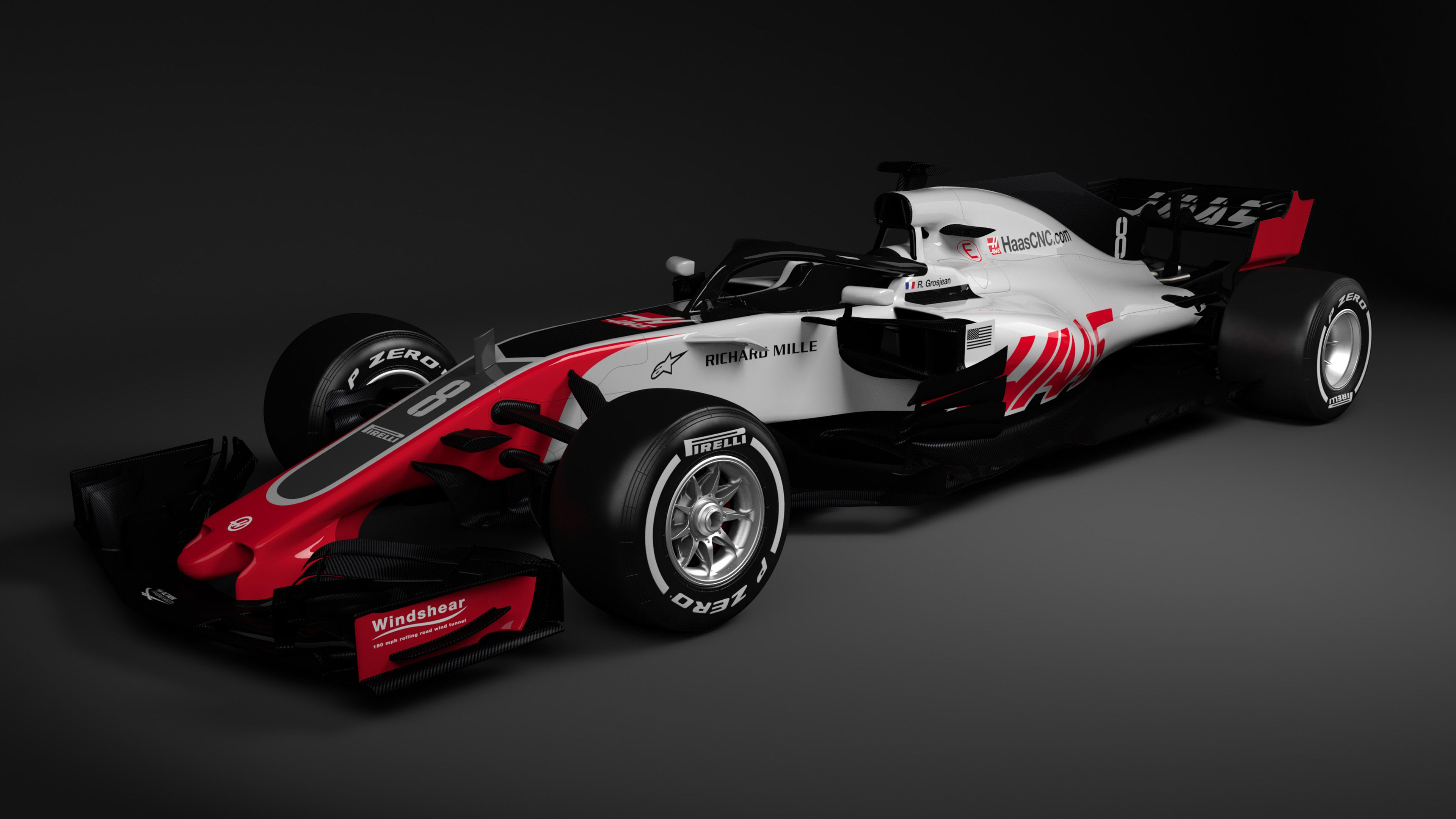 haas f1 team unveils racecar for 2018. Black Bedroom Furniture Sets. Home Design Ideas