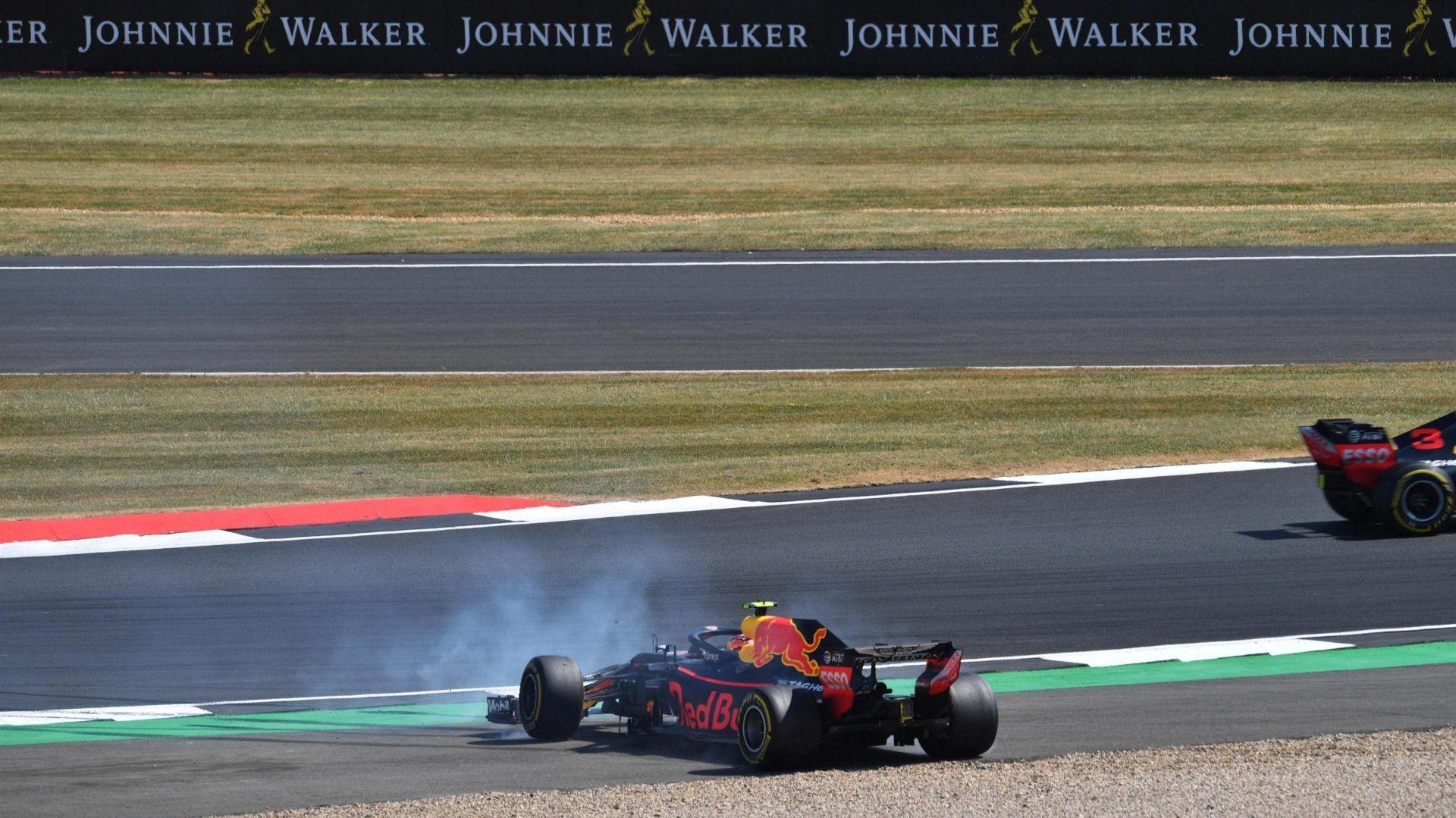 Max Verstappen spin