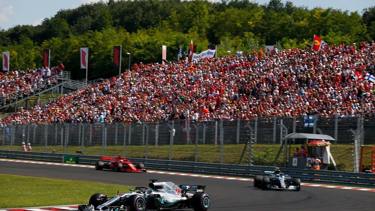 Lewis Hamilton leads
