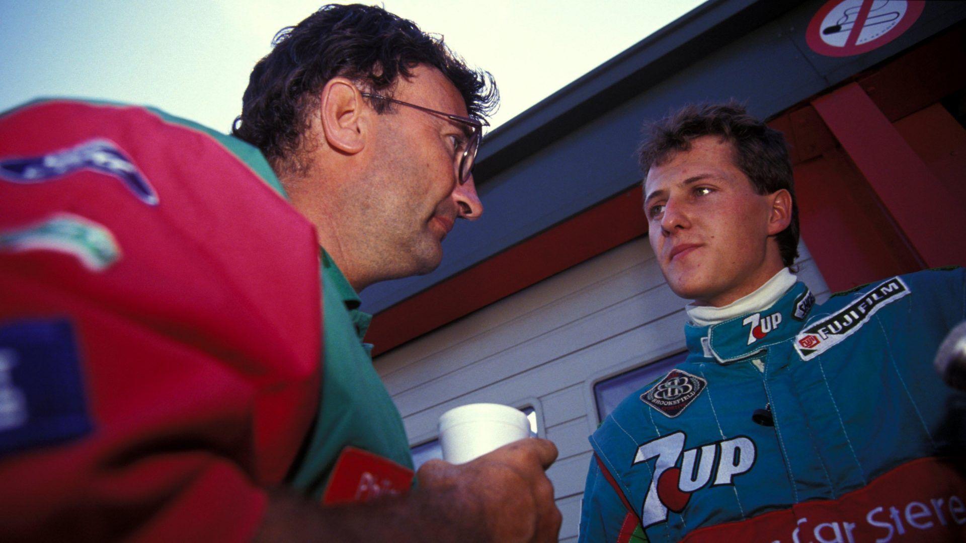 Eddie Jordan with Michael Schumacher