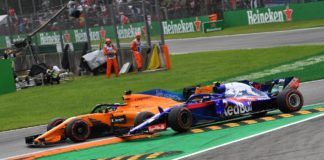 Fernando Alonso and Pierre Gasly in Turn 1