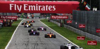 Sergio Perez in the pack