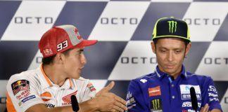 Marc Marquez and Valentino Rossi