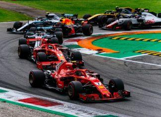 Ferrari duo leading