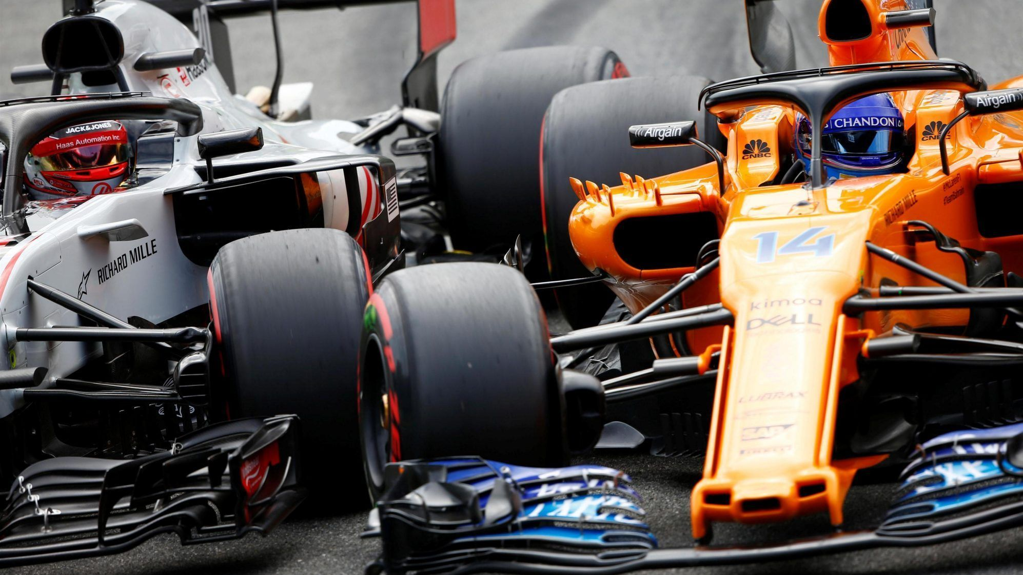 Kevin Magnussen and Fernando Alonso