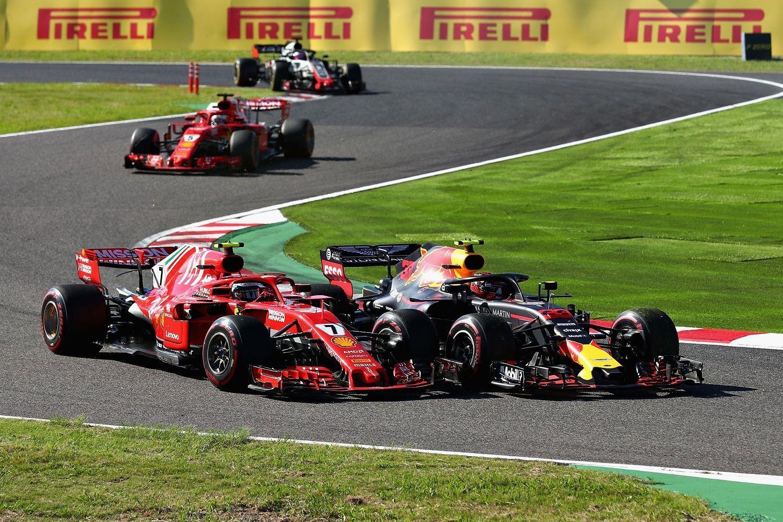 Kimi Raikkonen, Max Verstappen, Sebastian Vettel