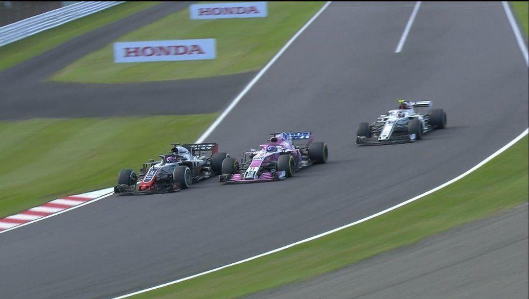 Romain Grosjean and Sergio Perez