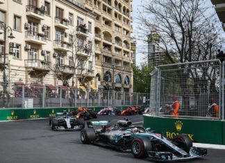 Lewis Hamilton leads Valtteri Bottas