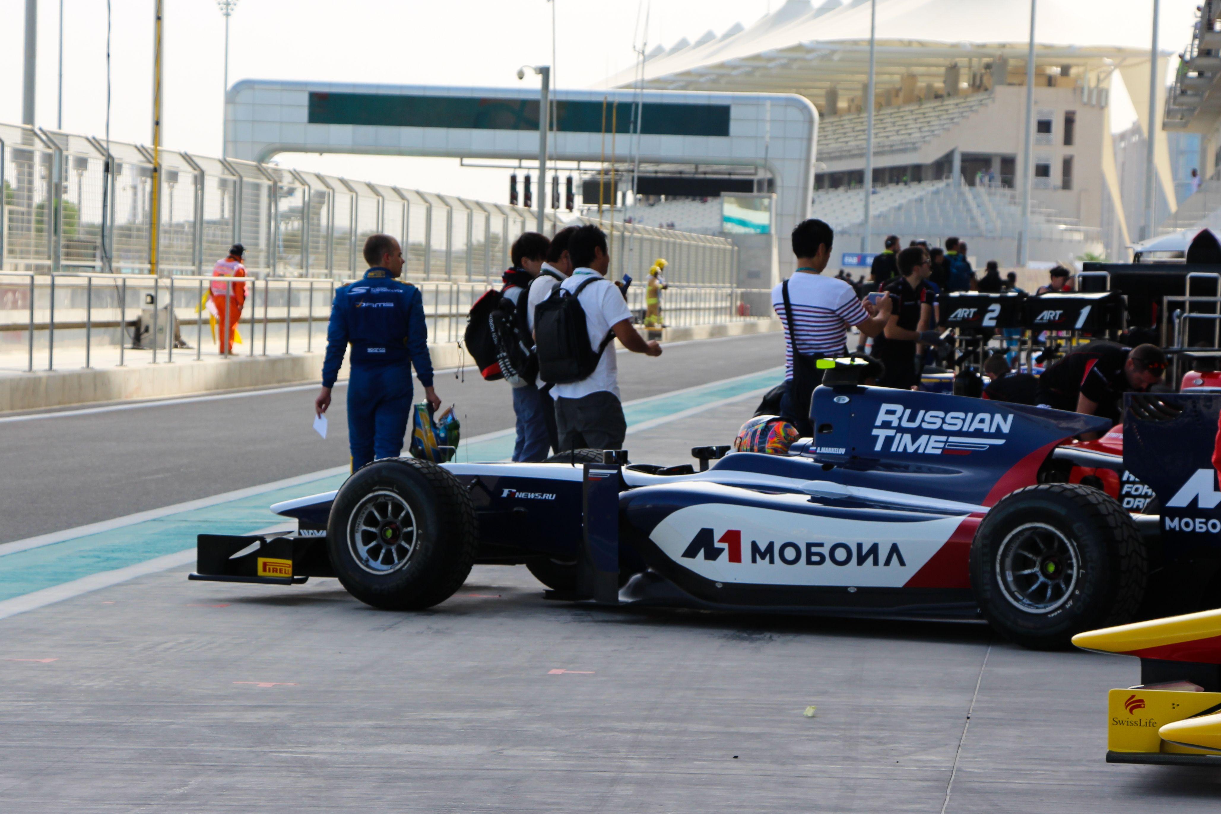 Artem Markelov pole position Abu Dhabi