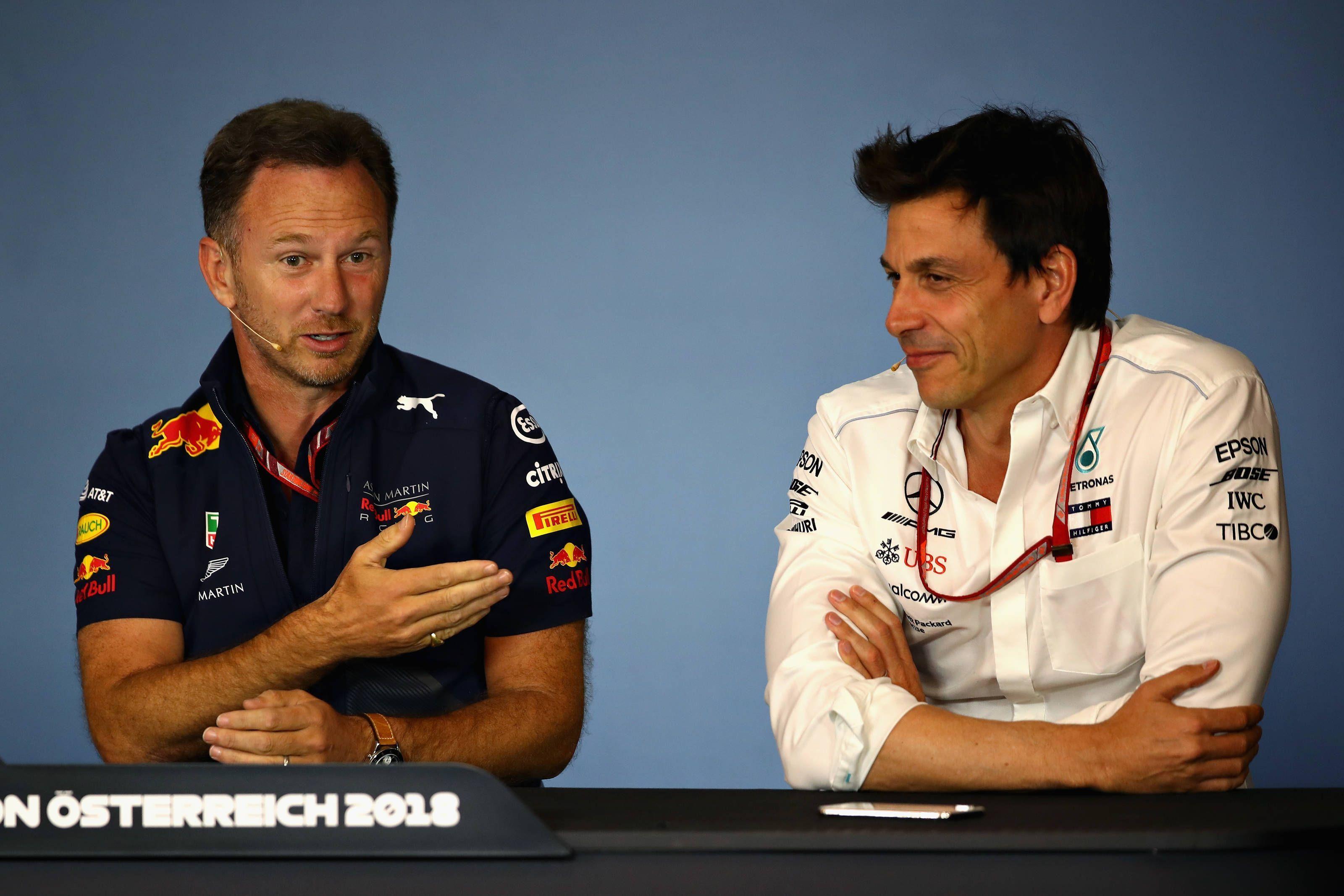 Red Bull's Christian Horner, Toto Wolff