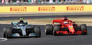 Sebastian Vettel and Valtteri Bottas