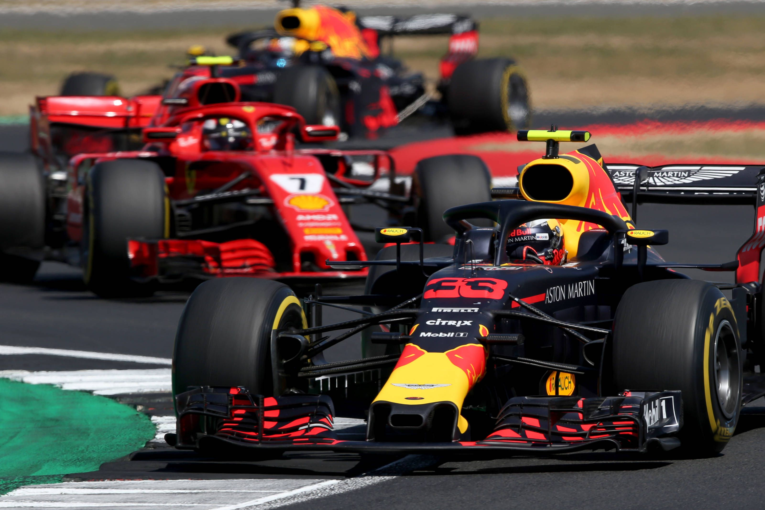 Ferrari following Red Bull