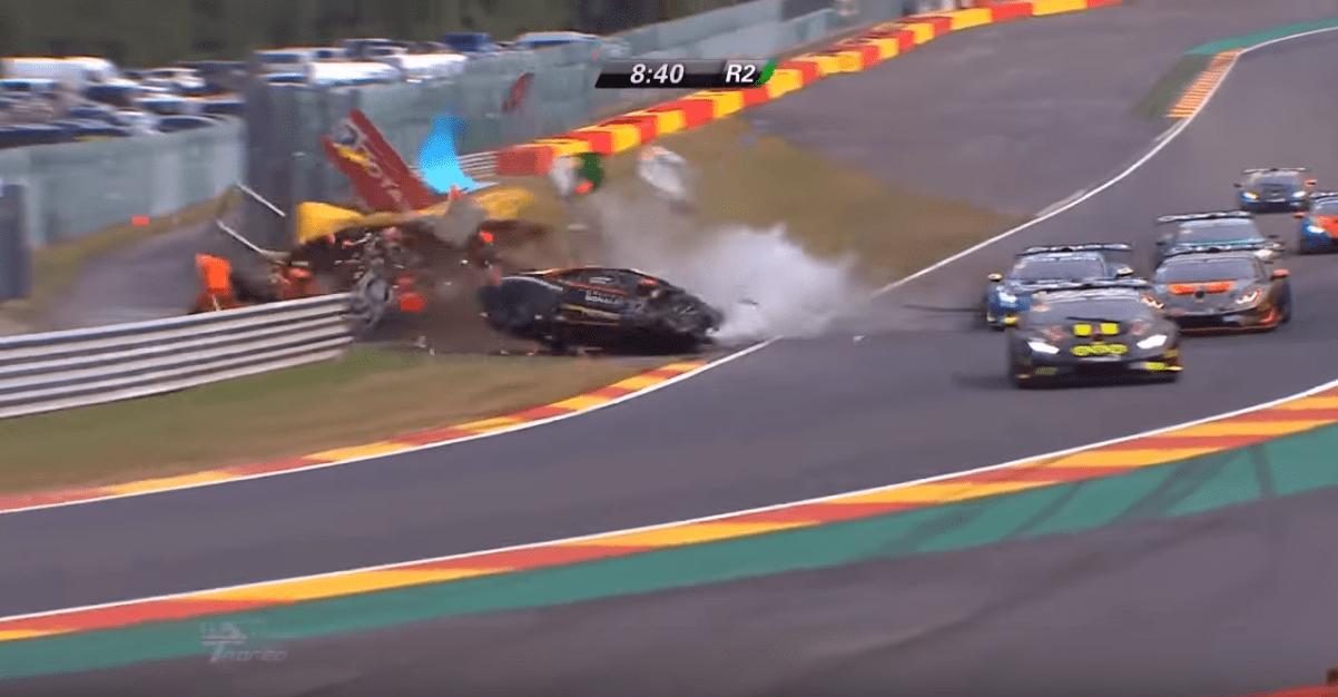 Marshals Driver Injured In Big Lamborghini Shunt At Spa