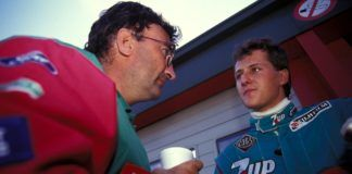 Eddie Jordan with Michael Schumacher