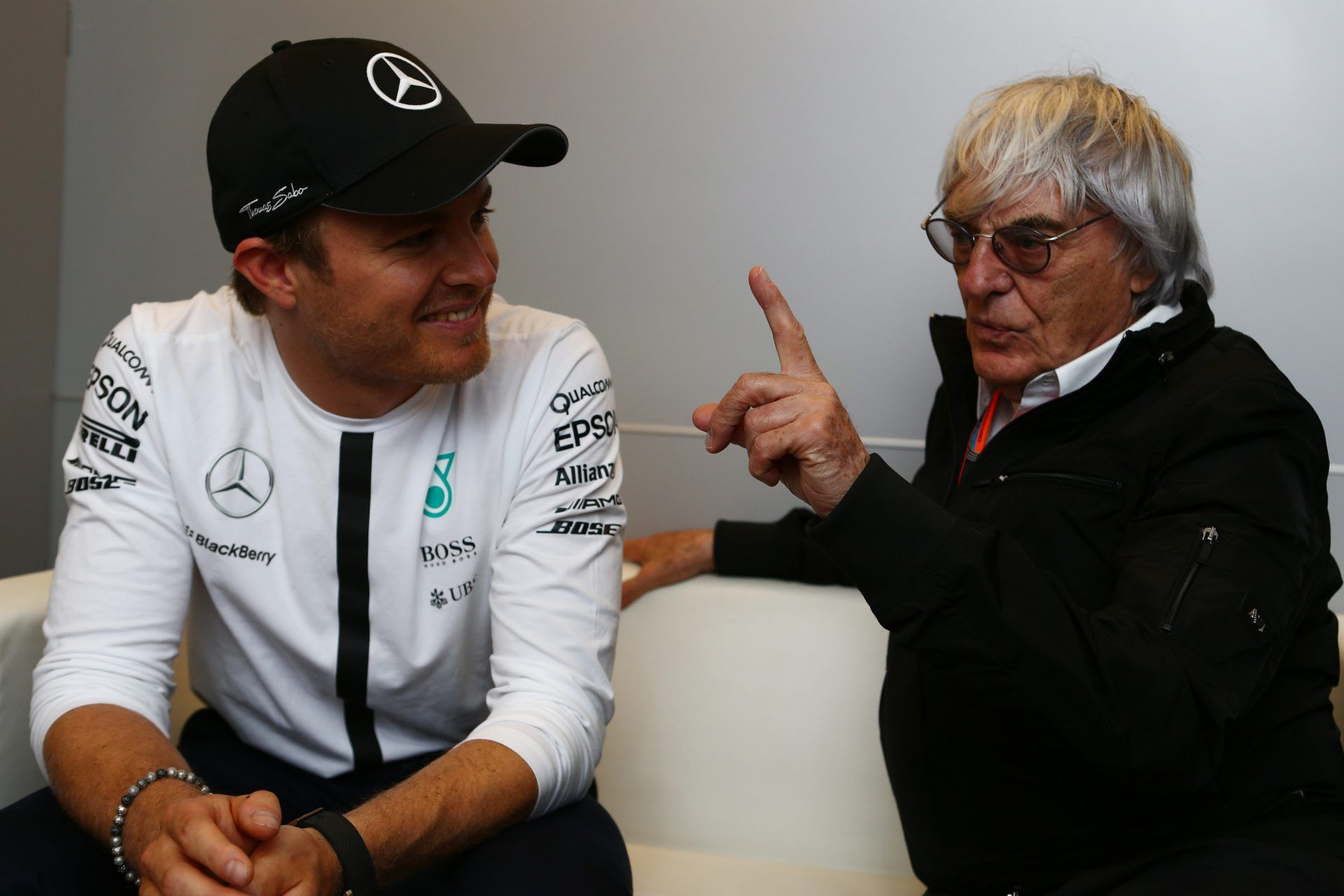 Nico Rosberg and Bernie Ecclestone